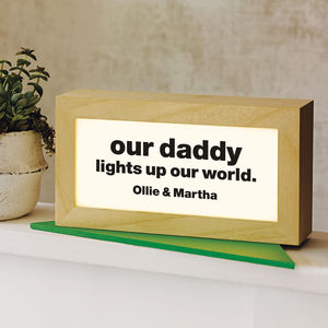 Personalised Quote Light Box - table lamps