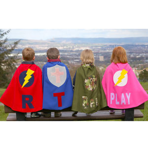 Children's Personalised Dressing Up Cape - for over 5's