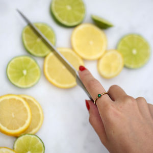 Raw Stone Stacking Ring: Emerald - rings