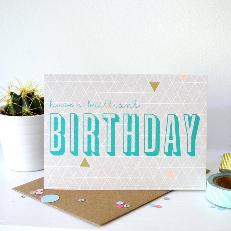 Geometry Birthday Card