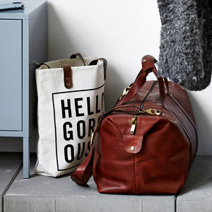 Leather Holdall - men's sale
