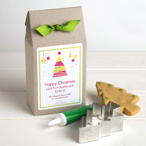 Personalised Christmas Shortbread Biscuit Mix - christmas