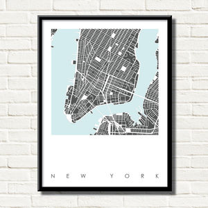 New York Map Art Limited Edition Prints