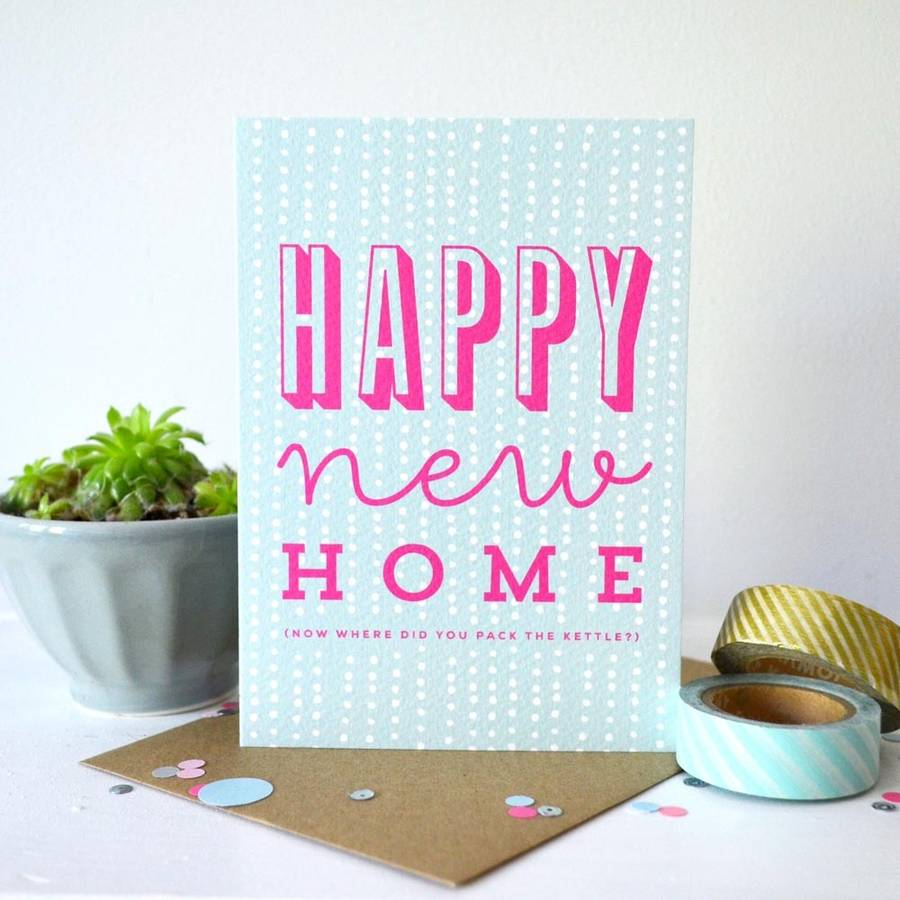 sprinkle happy new home card by paper arrow press