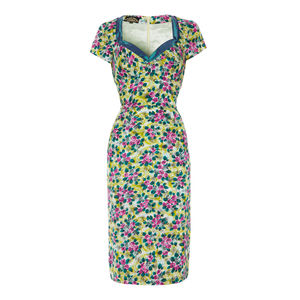 Kelly Dress In Rosetti Print Silk Cotton - dresses