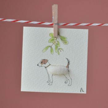 Jack Russell Christmas Gift Tags, Pack Of Four