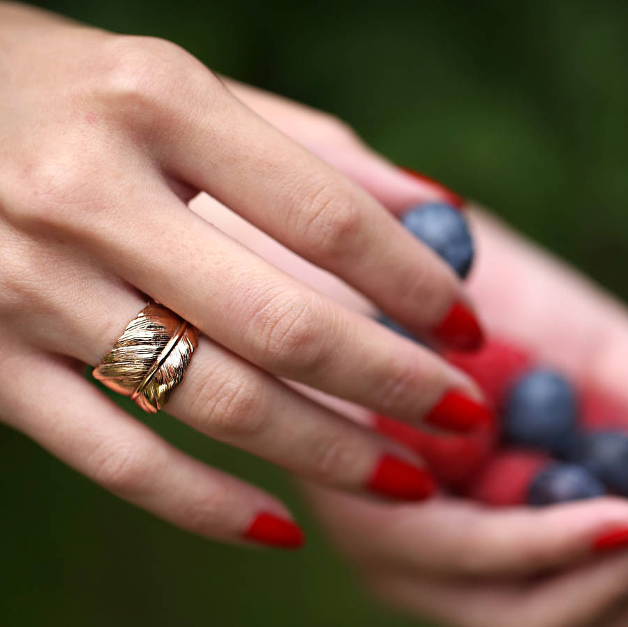 Rose Gold Feather Ring: Take Flight