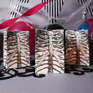 Halloween Skeleton Ribcage Lantern Bags - trick or treat bags