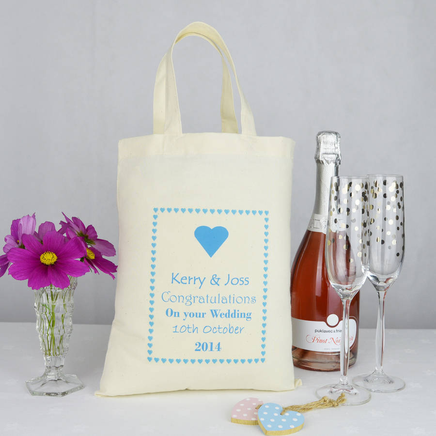 Personalised 'wedding' Gift Bag By Andrea Fays