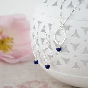 Aida Lapis Lazuli Pendant And Earring Set - women's jewellery
