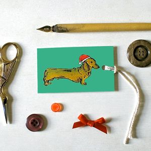 Dachshund Dog Christmas Tags - cards & wrap