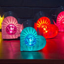 Small Fairground Heart Light Lamp
