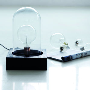 Glass Bell Dome Lamp - desk lamps