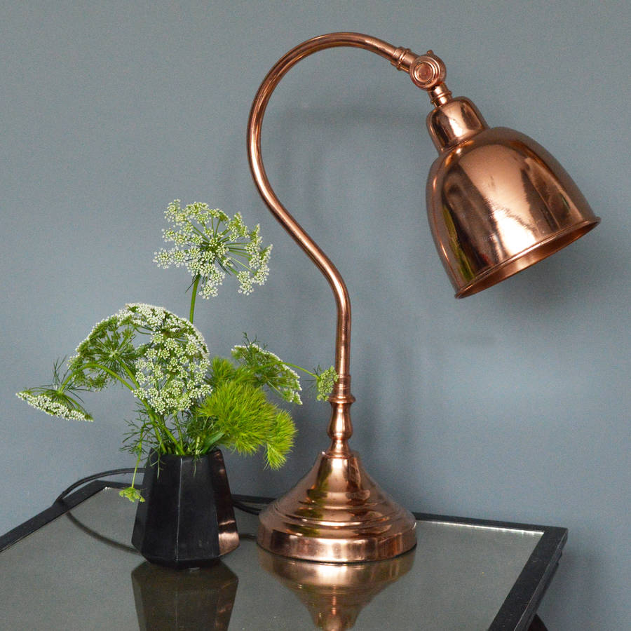 Copper Desk Lamp By Miafleur Notonthehighstreet Com