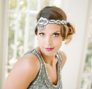 Charleston Flapper Embellished Wedding Headband