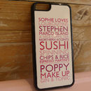 Personalised iPhone Six Cover