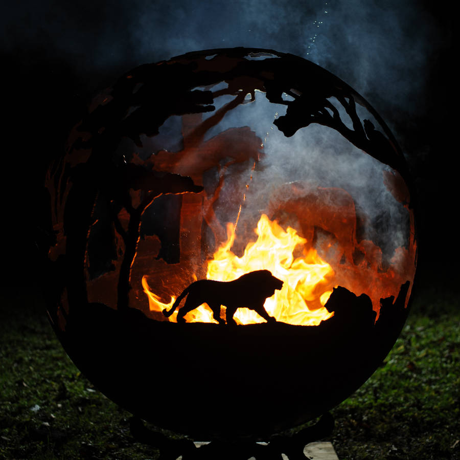 Africa Themed Sculptural Firepit By The Firepit Company