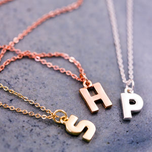 Personalised Chunky Letter Necklace - stocking fillers for her