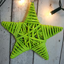 Extra Large Wicker Star Christmas Wreath Decoration