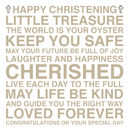 Happy Christening Sentiments Card