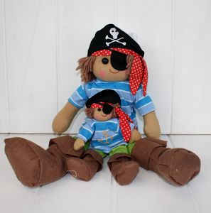 Mini Pirate Rag Doll - soft toys & dolls