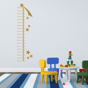 Shooting Stars Growth Chart Wall Sticker - height charts