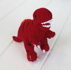 Mini Red T Rex Dinosaur Rattle - toys & games