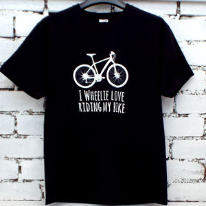 'I Wheelie Love Riding My Bike' Men's T Shirt