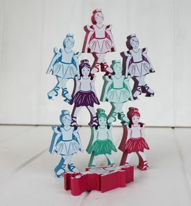 Wooden Balancing Ballerinas - summer sale