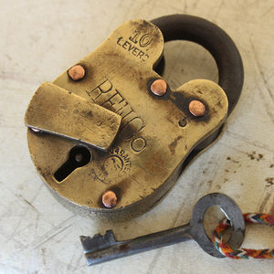 Vintage Brass Padlock - art & decorations