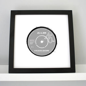 Personalised Print - Anniversary Record Label