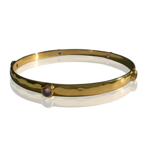 Amethyst Gemstone Bracelet Gold Layer Collection - bracelets & bangles