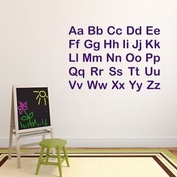 Alphabet Block Wall Sticker