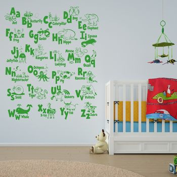 Animal Alphabet Wall Sticker