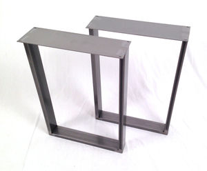Dining Pedestals In Industrial Steel - dining room