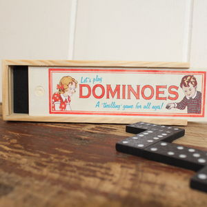 Traditional Wooden Dominoes Game - traditional toys & games