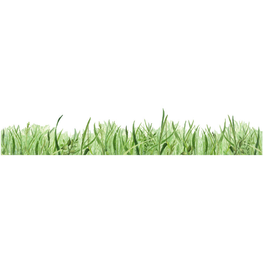 Grass border fabric wall sticker by chocovenyl for Best grasses for borders