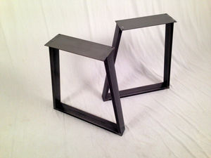 Dining Pedestals In Industrial Steel Trapezium Design - kitchen