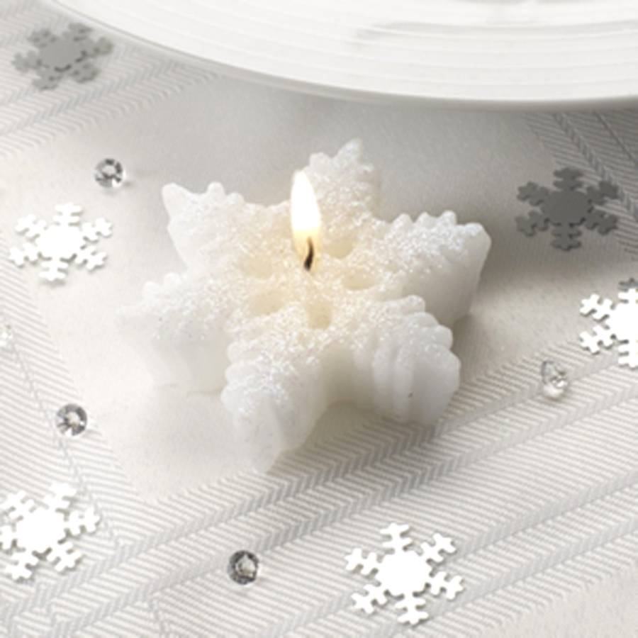 snowflake christmas table decoration by british and bespoke ...