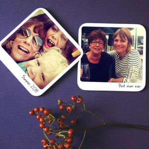 Personalised Polaroid Instagram Coaster - placemats & coasters