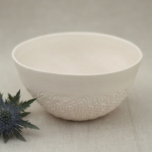 Vintage Lace Porcelain Bowl