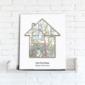 Personalised House Map Canvas Print