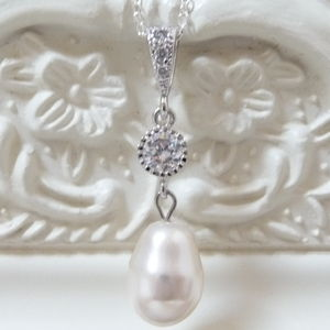 Crystal And Teardrop Pearl Pendant Necklace - women's jewellery