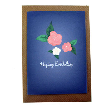 Hand Illustrated Floral Birthday Card