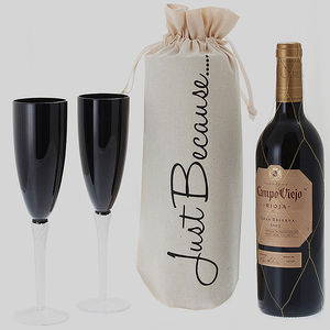 'Just Because' Wine Bottle Gift Bag
