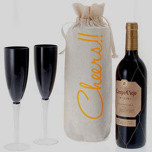 'Cheers' Wine Bottle Gift Bag