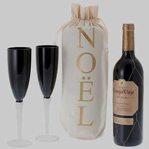 'Noel' Wine Bottle Gift Bag - gift bags & boxes