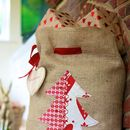 Personalised Hessian Christmas Tree Santa Sack