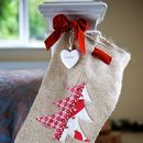 Personalised Hessian Christmas Tree Stocking