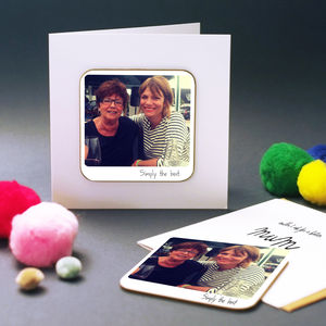 Personalised Polaroid Greeting Card - christening cards